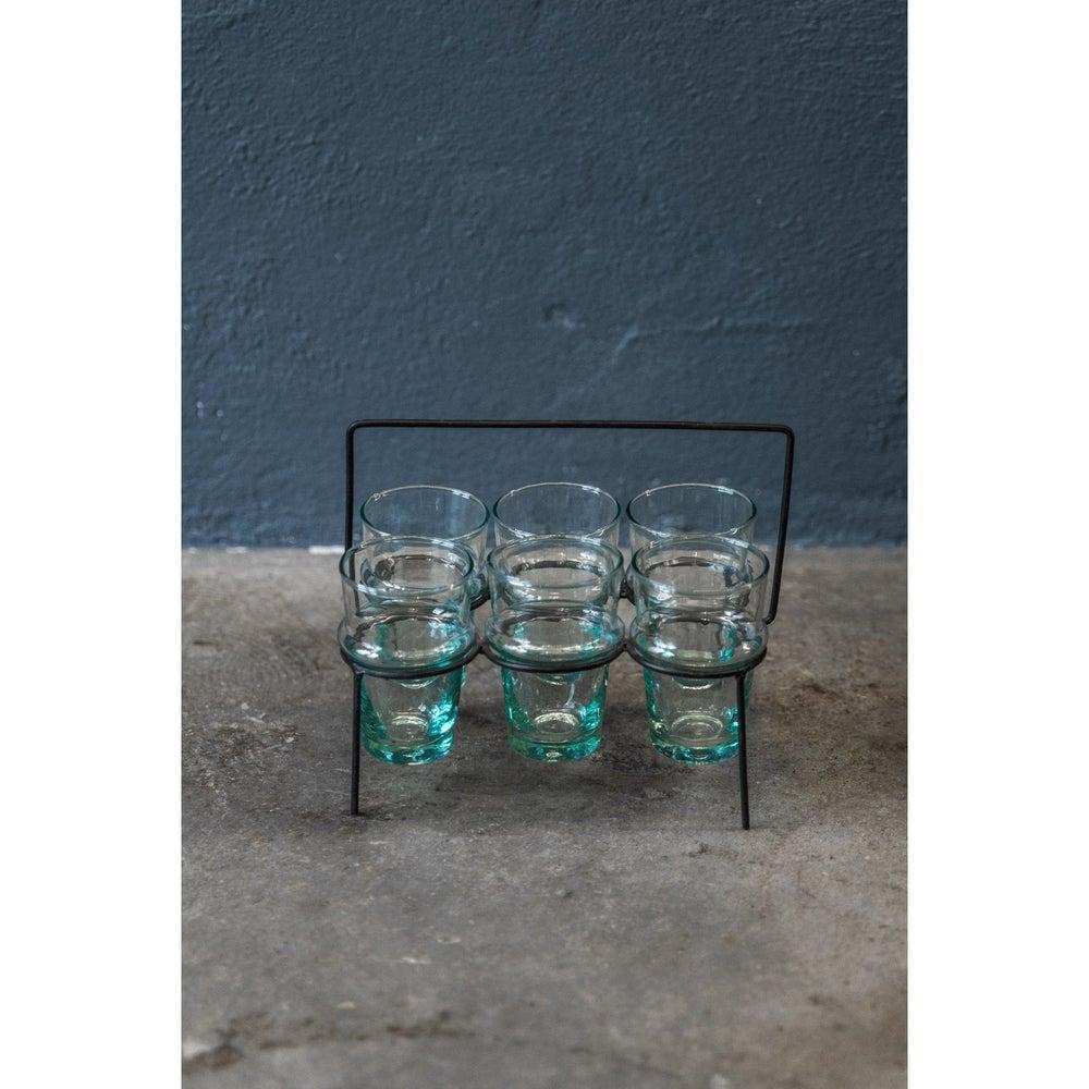Image of Beldi Teaglass with metal holder