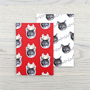 Image of gee whiskers series: holiday wrapping paper