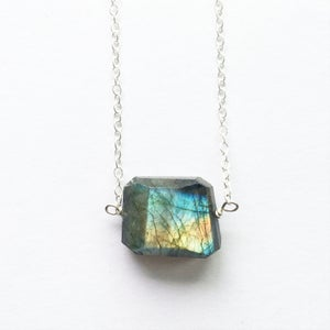 Image of Dawn Necklace - Labradorite and Sterling Silver