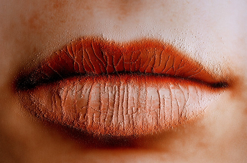 Image of 'Lips One', from the series 'She carries it all like a map on her skin'