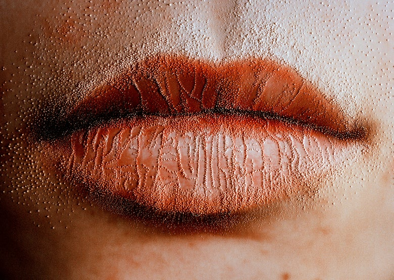 Image of 'Lips Two', from the series 'She carries it all like a map on her skin'