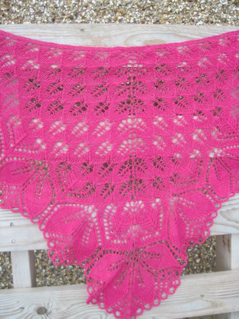 Image of Haruni Handknit Lace Shawl (made to order)