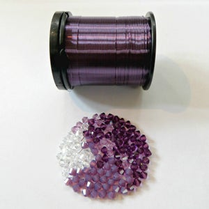Image of Wire & Crystal Starter Kit - Lilac Breeze/Purple plus bonus pattern
