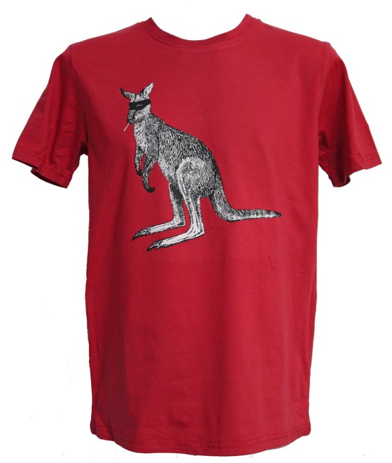 Image of Captain Kangaroo Tee- Red