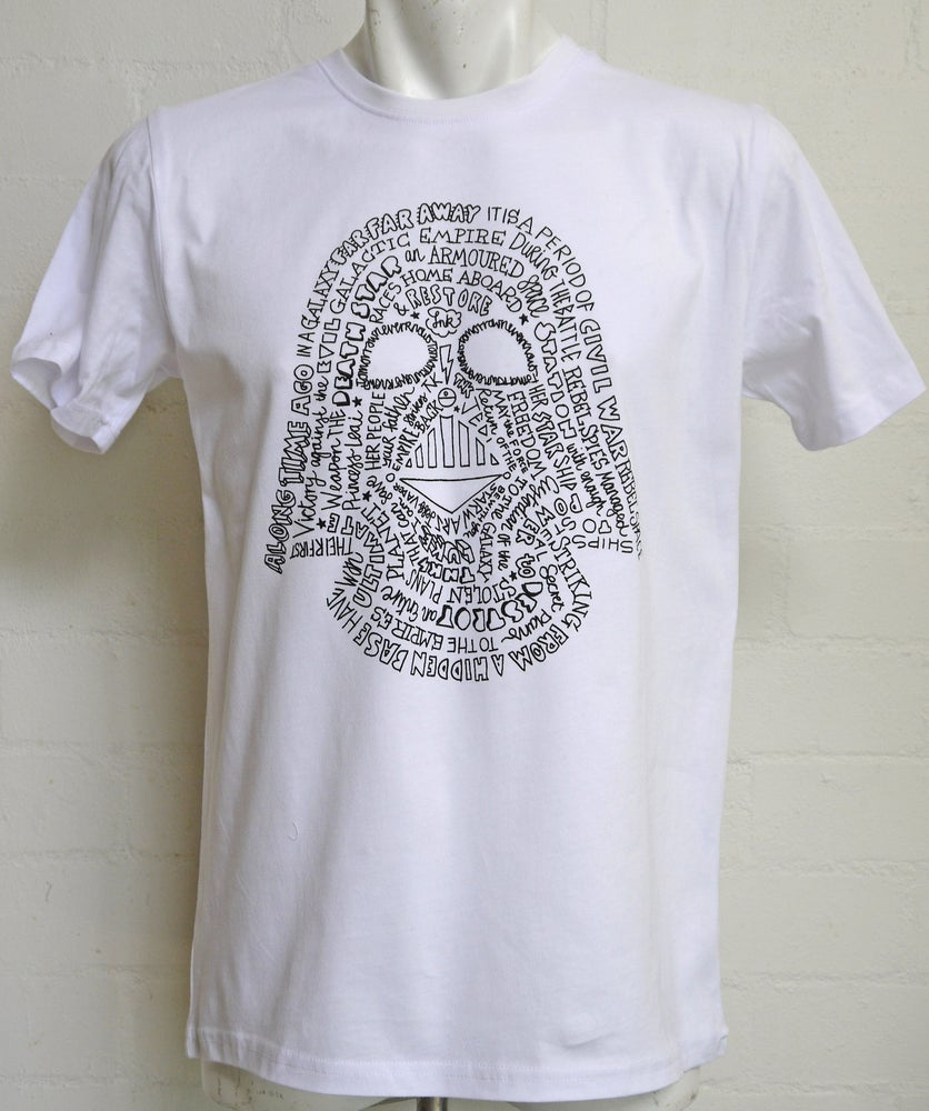 Image of In A Galaxy Tee- White & Silver
