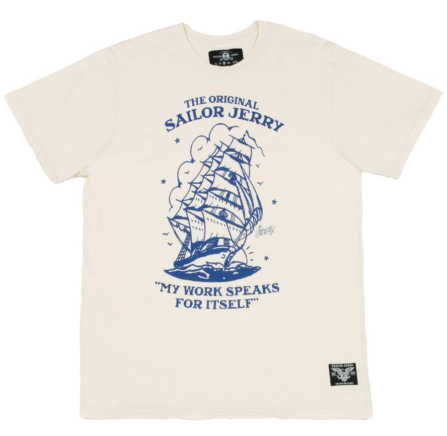Image of Sailor Jerry Men's T-shirt - Homeward Bound (Cream)