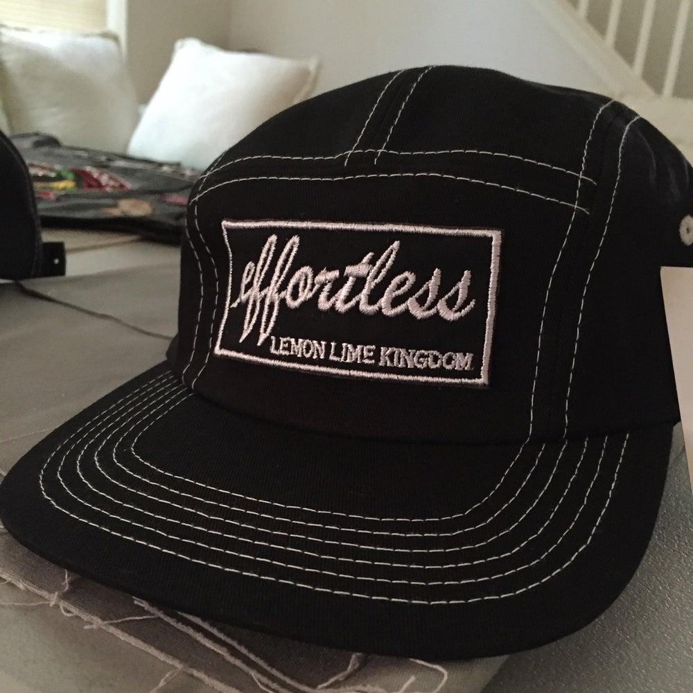Image of Black Effortless 5 Panel Hat