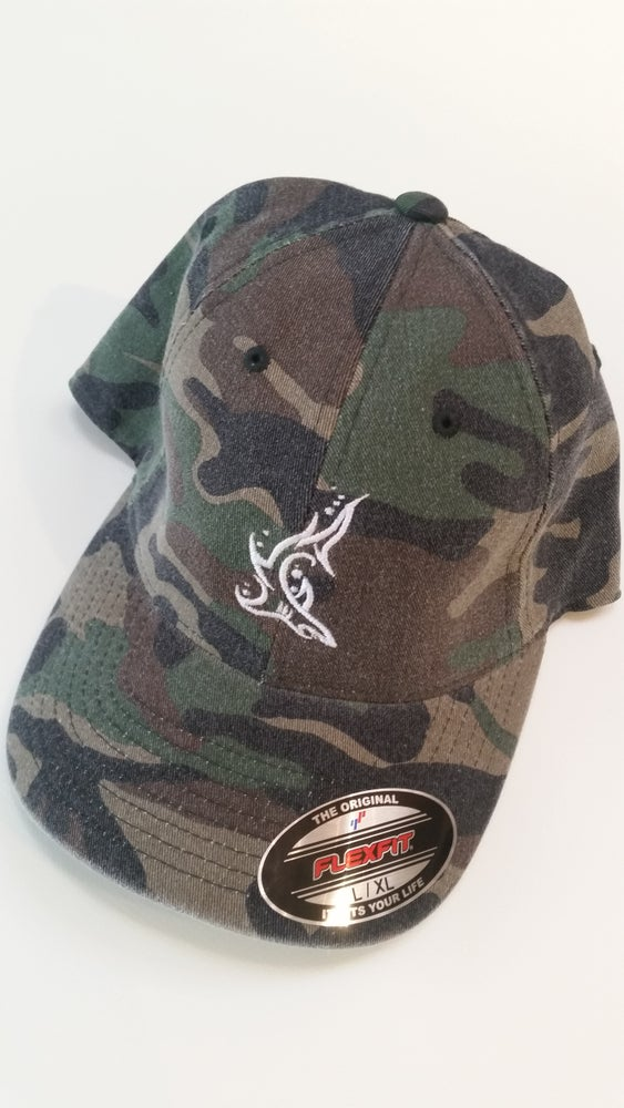 Image of Shark Camo Hat Fitted