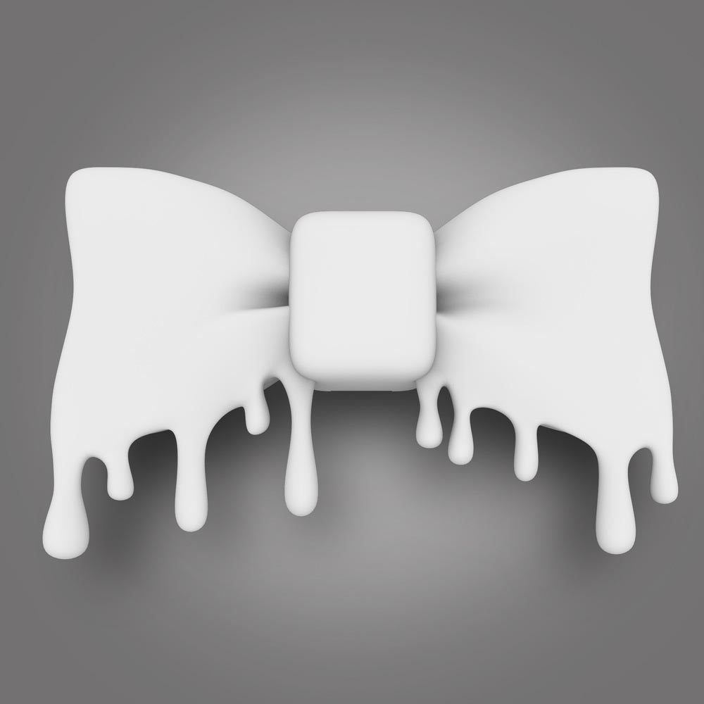 Image of The 3D Bow Tie (white)