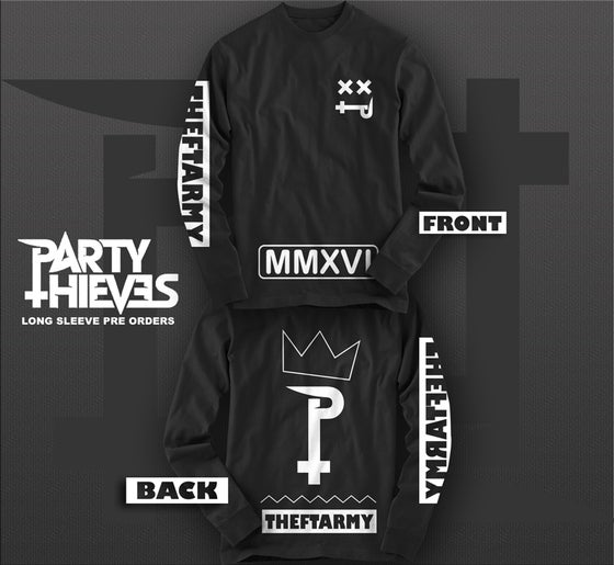 Image of #THEFTARMY LONG SLEEVE (LIMITED EDITION BLACK)
