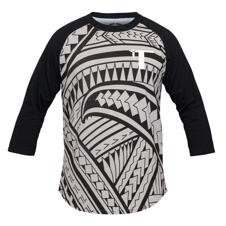 Image of Tatau Raglan Heather Grey/Black