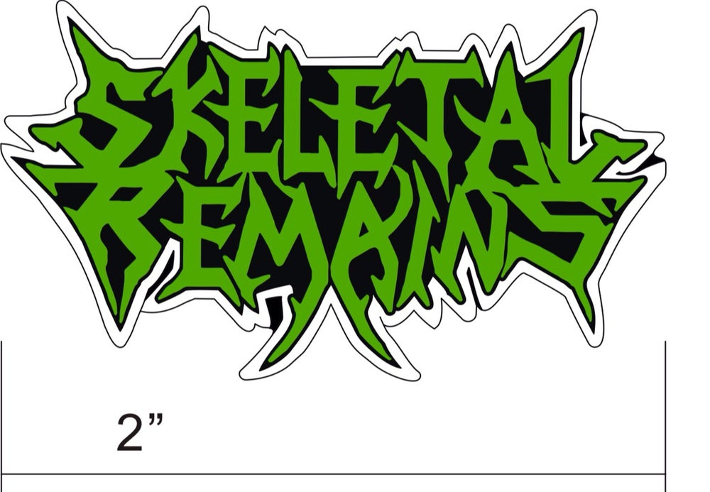 Image of Skeletal Remains Logo Enamel Pins