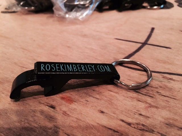 Image of ROSEKIMBERLEY.COM Bottle Opener Keyring