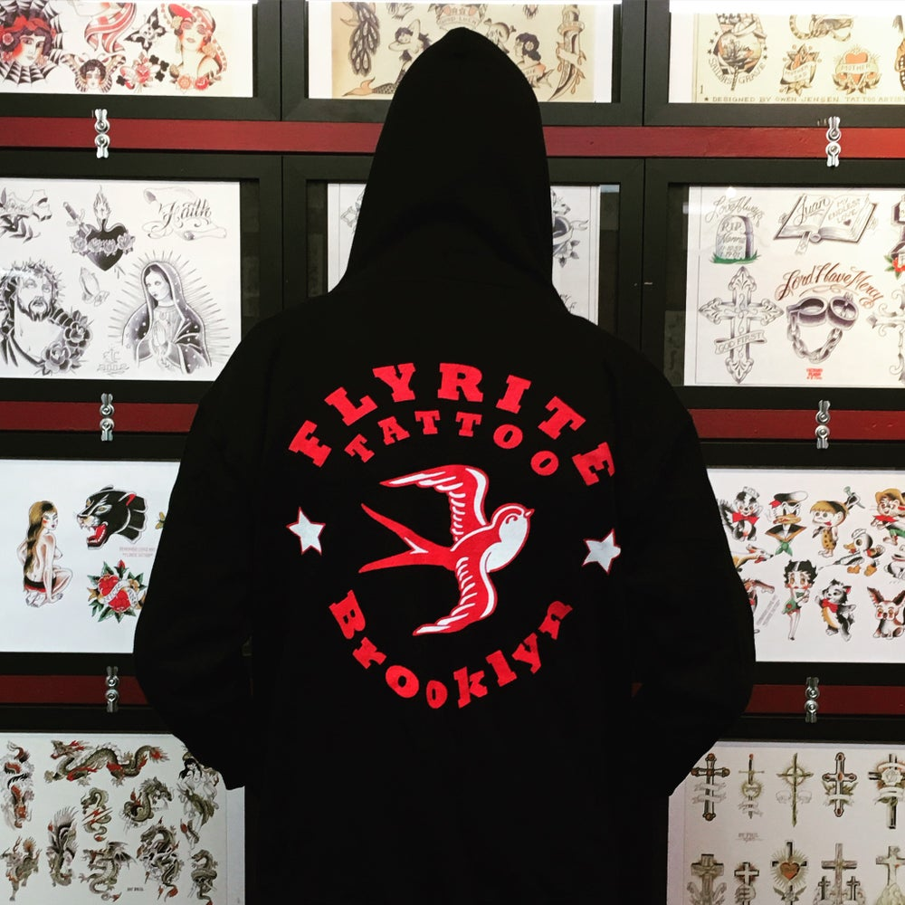 Image of FLYRITE ZIP HOODED SWEATSHIRT