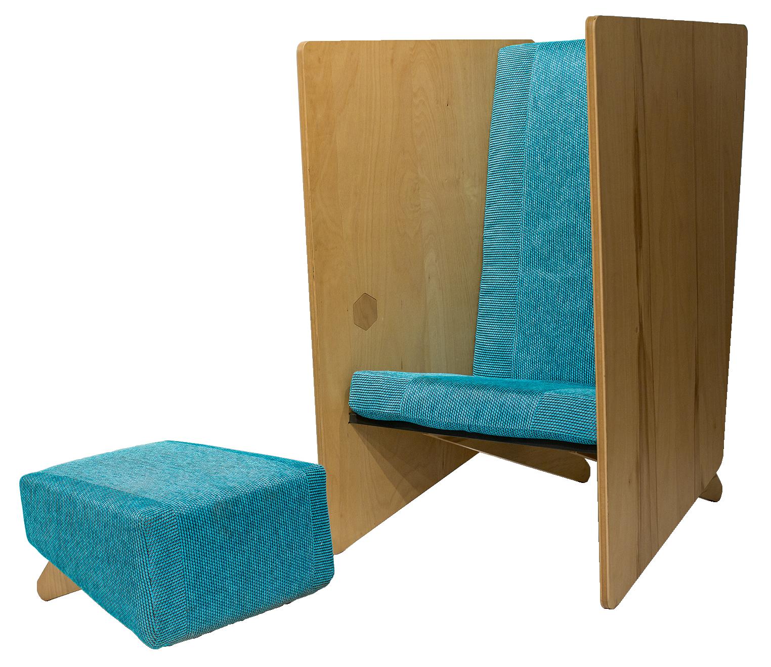 simplu — Incognito Lounge Chair & Mottie Ottoman