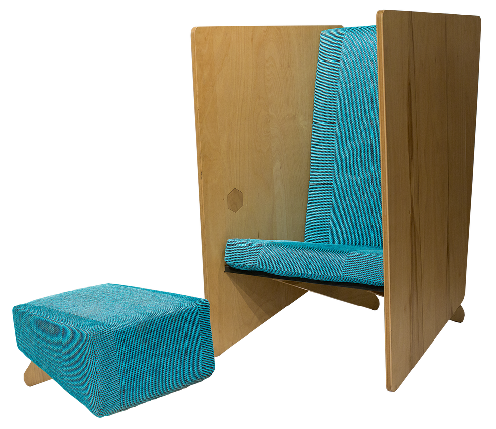 Image of Incognito Lounge Chair & Mottie Ottoman