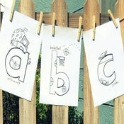 Image of abc lowercase letters coloring book-Digital