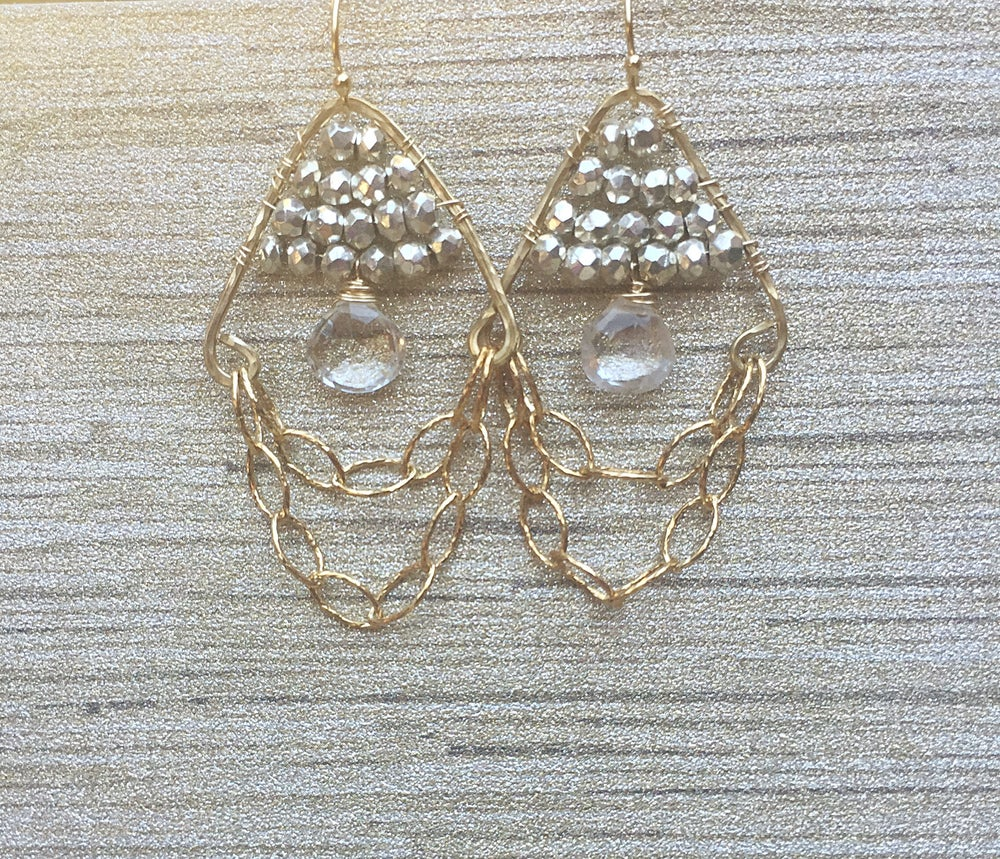 Image of Silver Chain Earrings