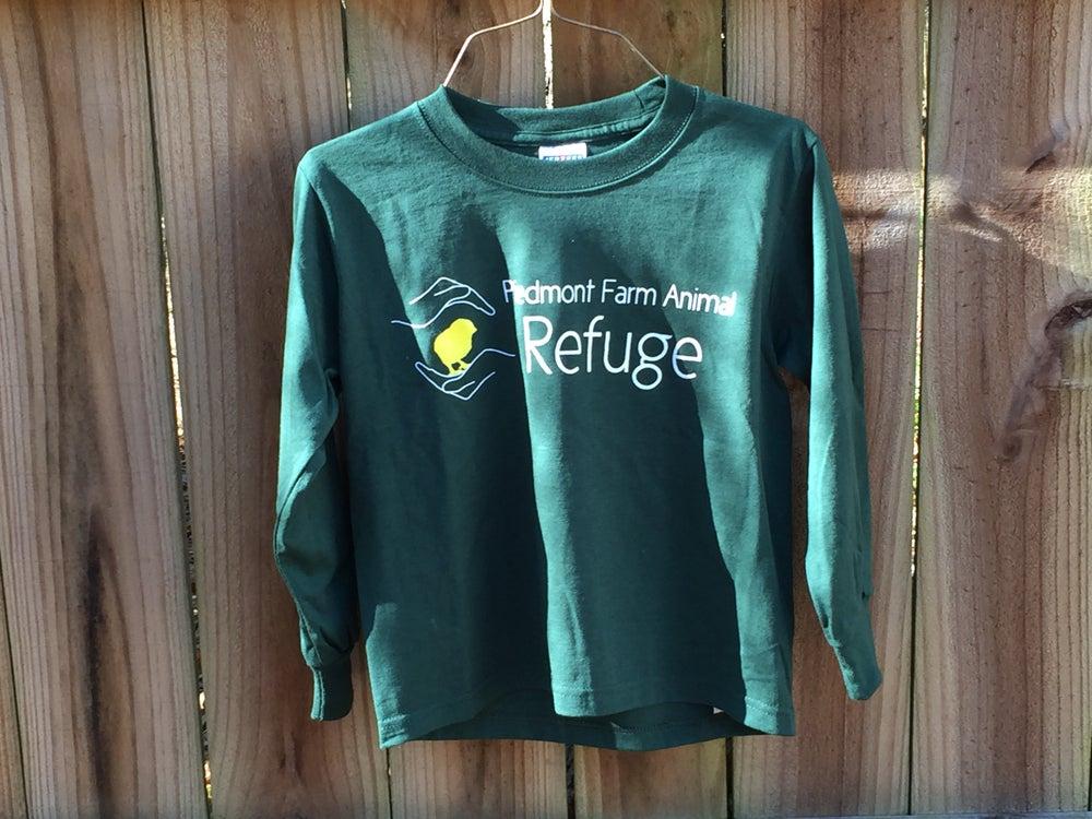 Image of Youth | long sleeve, green, Refuge logo