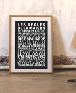 Affiche les regles de la maison la cabane eug ne - Cadre les regles de la maison ...
