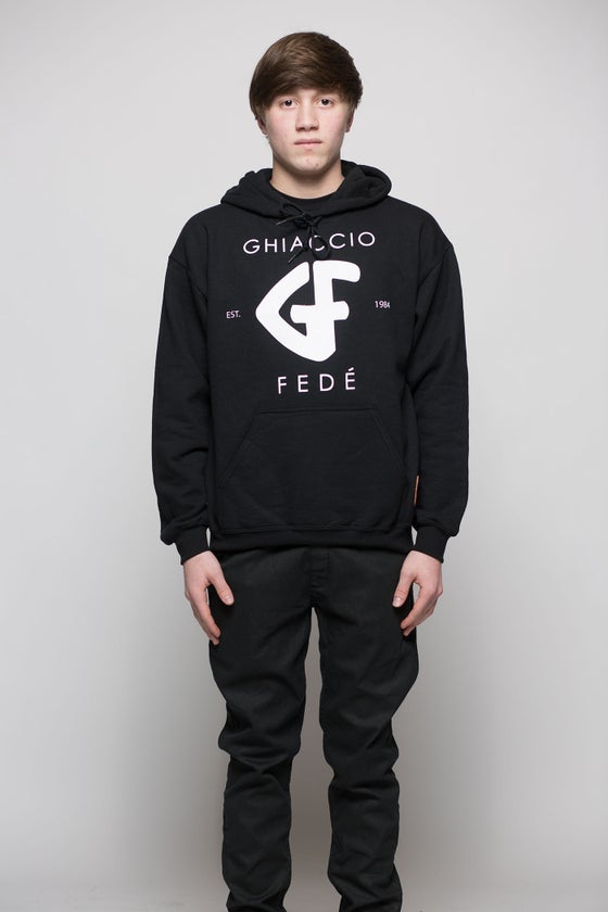 Image of Classic GF Hooded Sweater BLK/WHT