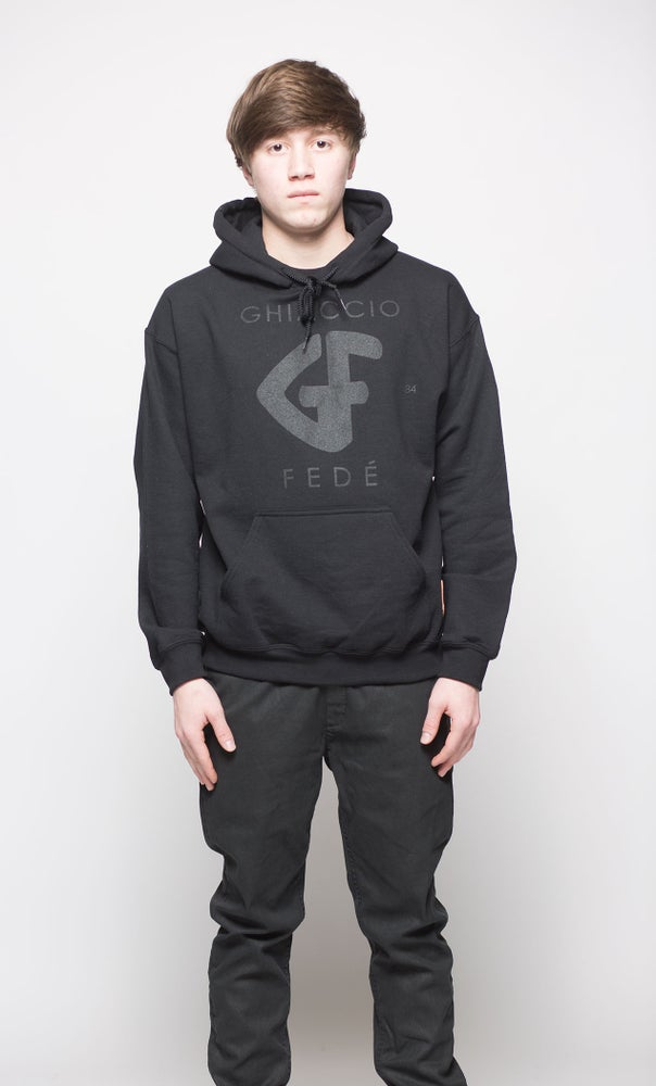 Image of Classic GF Hooded Sweater BLK/BLK