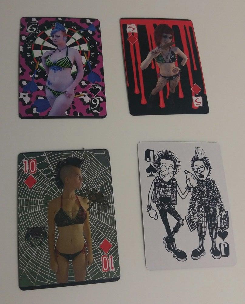 Image of Punk Rock Bikini Playing Cards