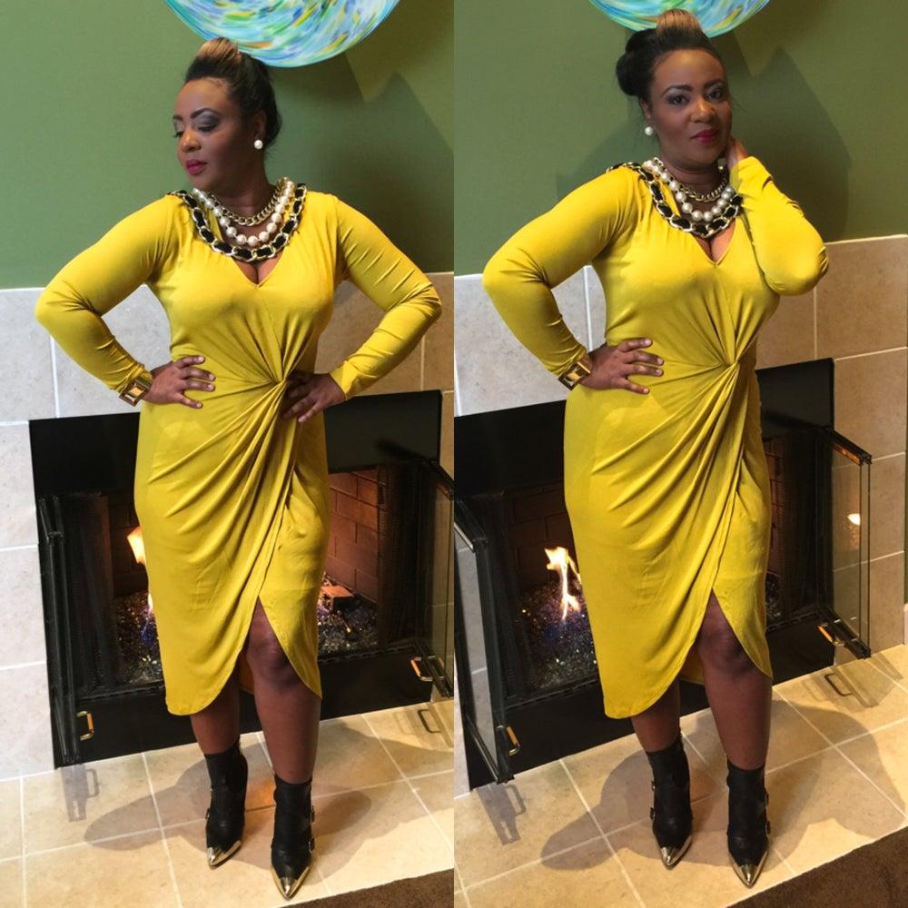 Image of Mustard Brick Road dress