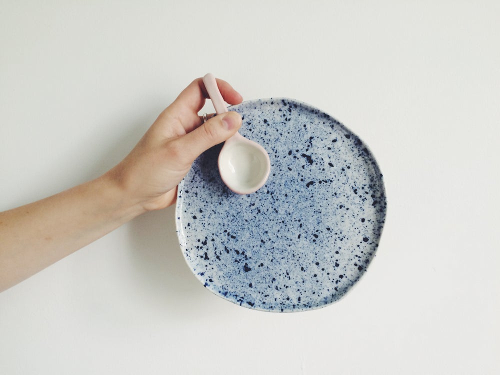 Image of Cake Plates // Blue