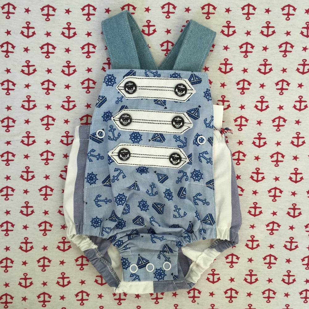 Image of 'drop anchor' rompers Size 000