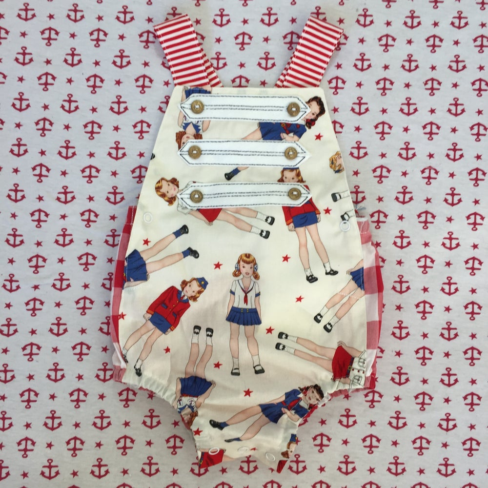 Image of 'drop anchor' rompers Size 1
