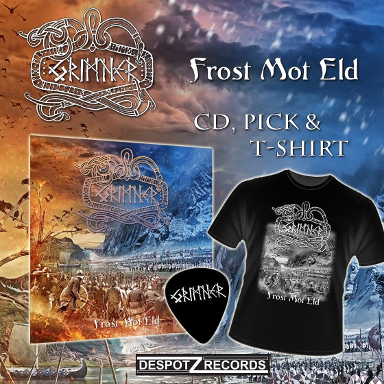 Image of Grimner - Frost Mot Eld (Plectrum/CD/T-Shirt)