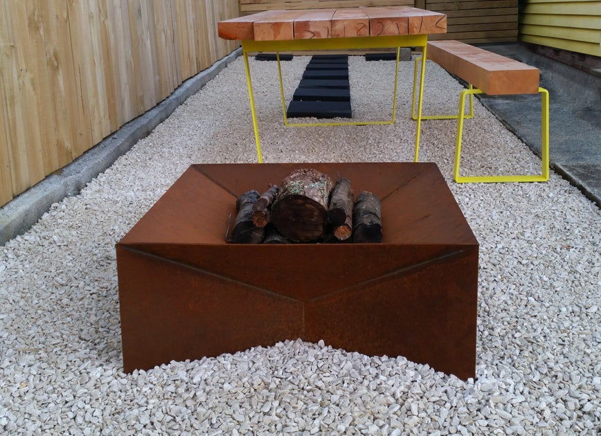 Wanaka Fire Pit In Corten Natural Rust Bray Design