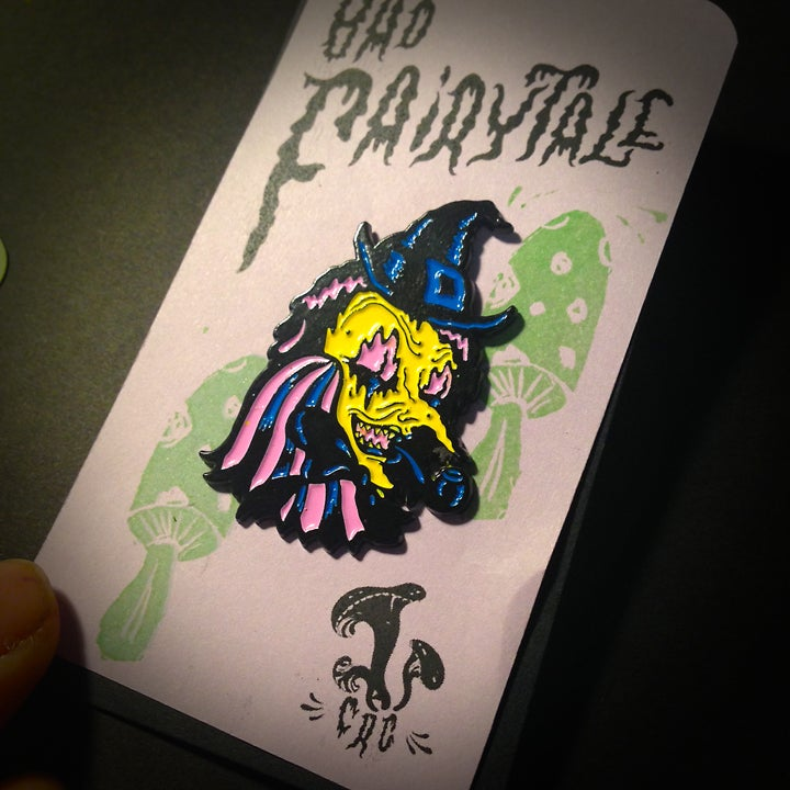 "Image of ""Bad Fairytale"" Licorice Witch Enamel Pin"