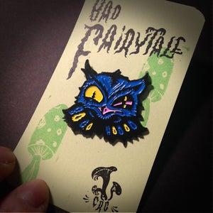 "Image of ""Bad Fairytale"" Scowly Owl Enamel Pin"
