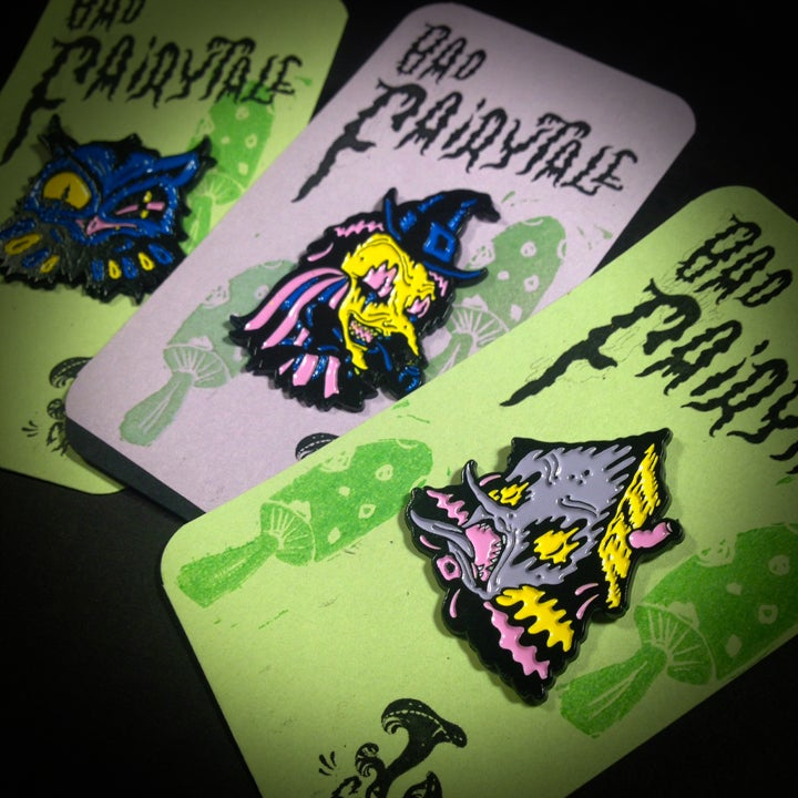 "Image of ""Bad Fairytale"" Pin Set of 3"