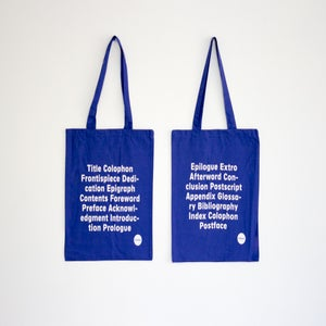 Image of Front/back matter Tote Bag