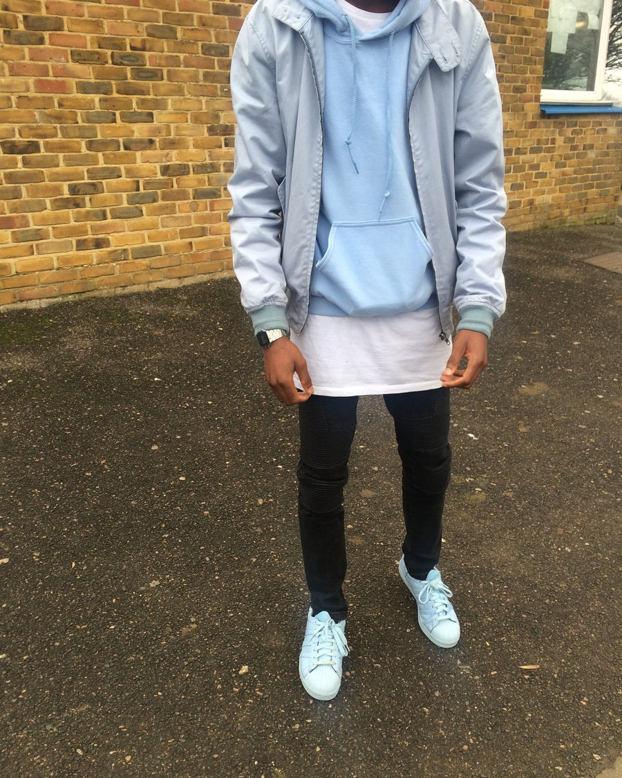 Image of PULLOVER HOODIE // BABY BLUE