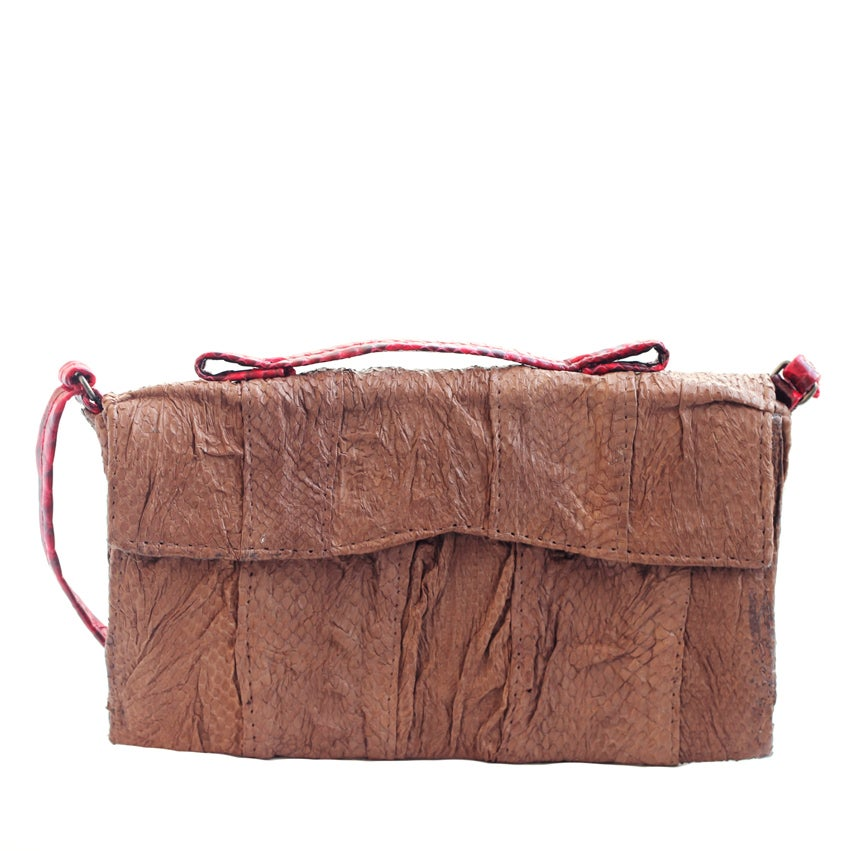 Image of Isinmi snakeskin bag - brown