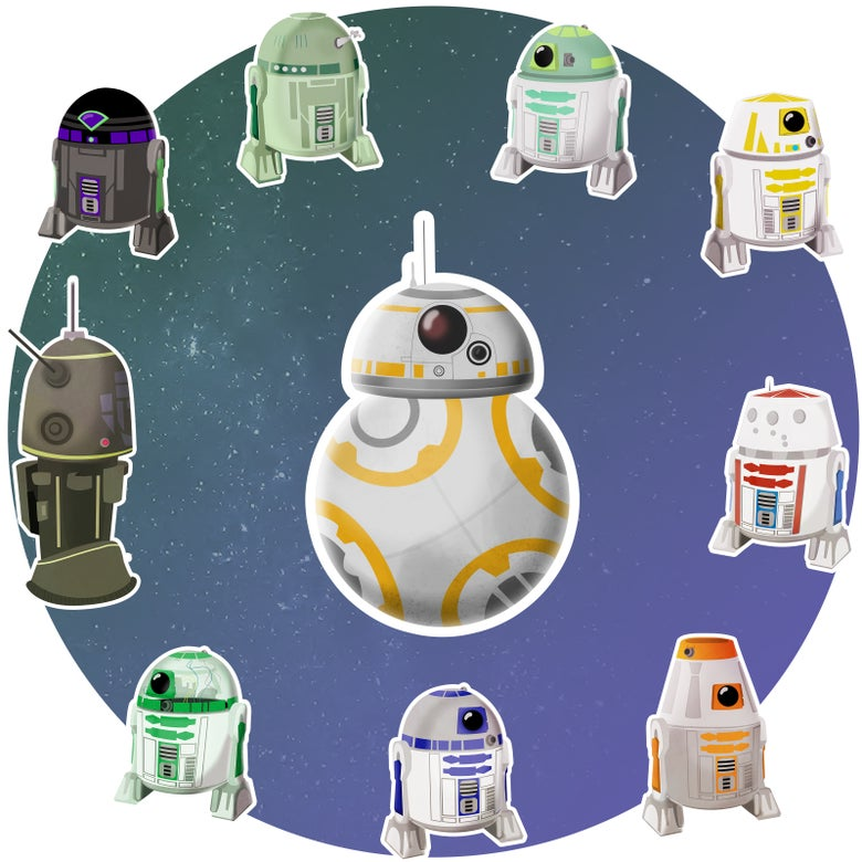 Image of Star Wars Astromech Stickers