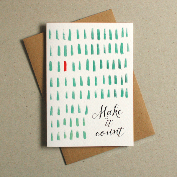 Image of Make It Count - Greeting Card