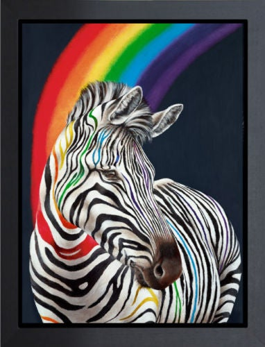 "Image of HAYLEY GOODHEAD ""SHOW YOUR COLOURS"" - LTD ED OF 195, FRAMED CANVAS - 53CM X 72CM"