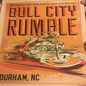Image of Large Hand Screened/Signed Bull City Rumble 9 Ltd. Ed. Print