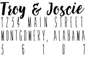 Image of Brush Script Address Stamps