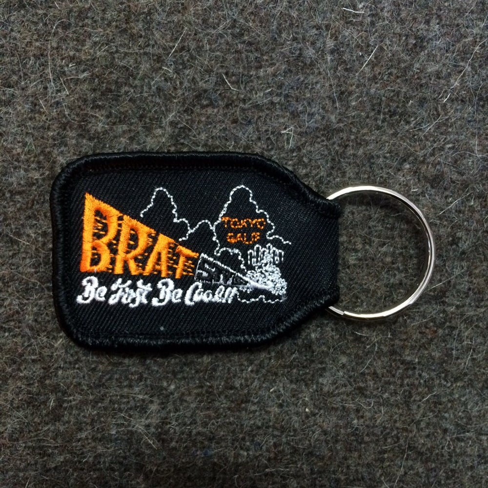 Image of BRAT STYLE KEY RING black×orange