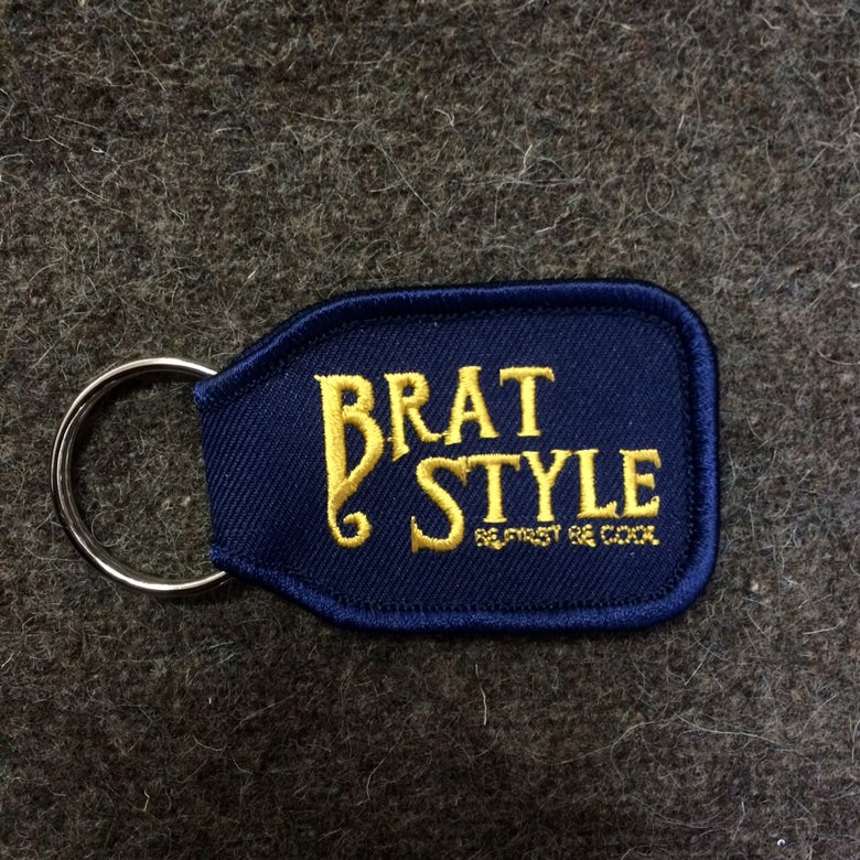Image of BRAT STYLE KEY RING Navy