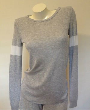 Image of SOPHIA SLOUCHY Crew LS ~ Heather Grey