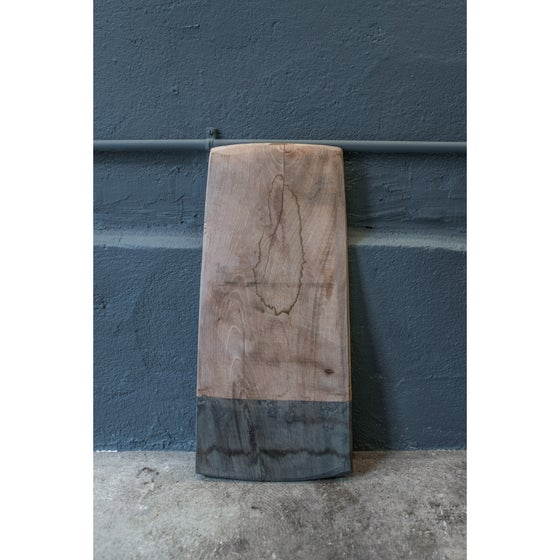 Image of Indigo dip-dyed wooden board