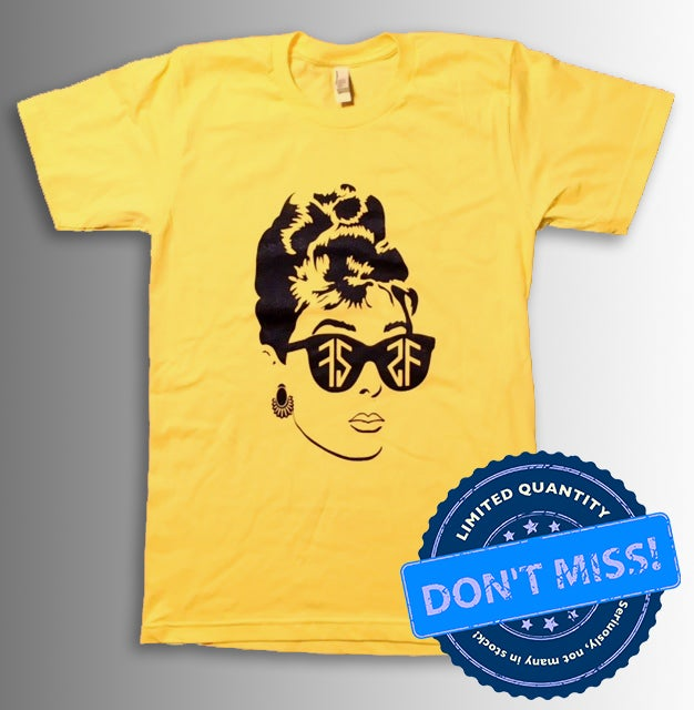 Image of (Limited Edition) Audrey T-Shirt - Yellow (FREE TOTE BAG)