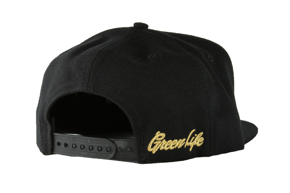 Image of The Pyramid Snapback Hat in Black